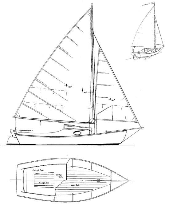 Meadow Bird - Daysailer/Camp Cruiser - Boat Plans - Boat ...